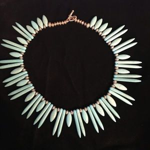 Turquoise & Silver Tone Choker